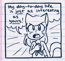 A preview from Everyday Life, a BCI comic