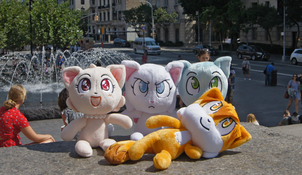 The four plush toys.
